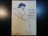 In the small mirror