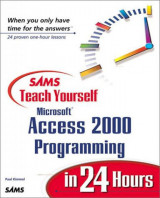 Sams-Teach Yourself Microsoft Access 2000 Programming in 24 hours