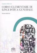 Corso elementare di linguistica generale
