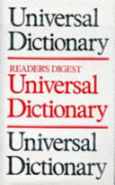 Reader's Digest Universal Dictionary