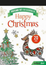 Postcard set for colouring in: Happy Christmas